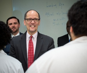 Secretary Tom Perez, Department of Labor, loves the robo advisors